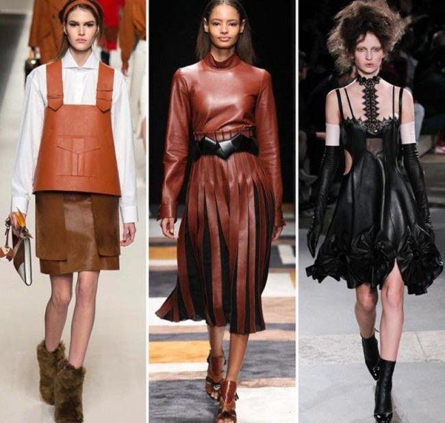 Tendenze Moda autunno inverno 2015 2016 La pelle