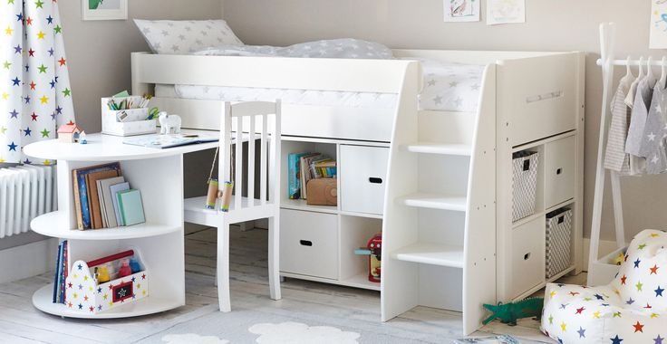 Merlin Mid Sleeper Bed - Pull-out  Desk
