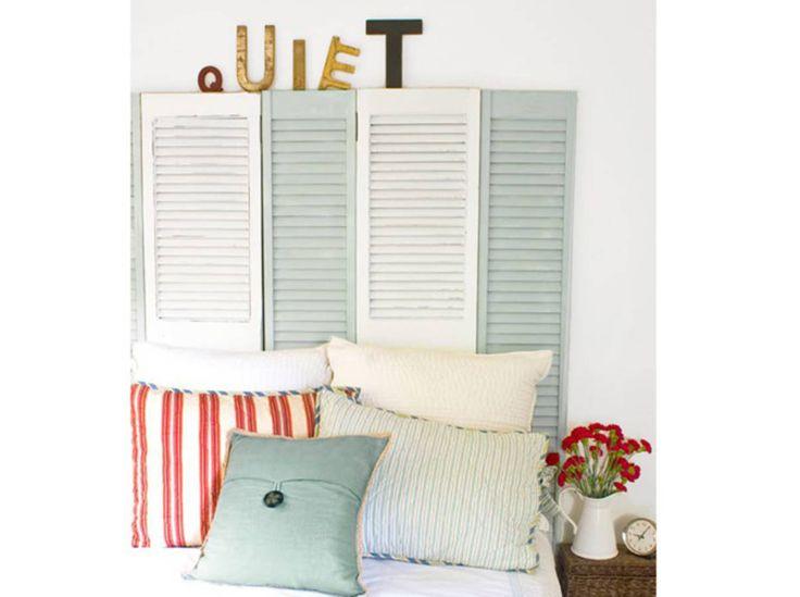 les 25 meilleures id es de la cat gorie t tes de lit volets sur pinterest chambre principale. Black Bedroom Furniture Sets. Home Design Ideas