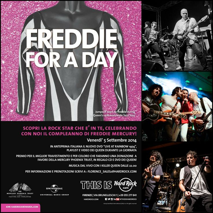 #KillerQueen official italian #Queen #TributeBand #Live at #HRCFirenze for our special #FreddieForADay - #FreddieMercury tribute night ! Friday 5th  September 2014