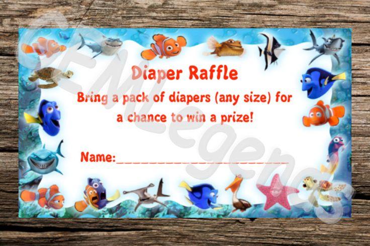 Nemo Baby Shower, Finding Nemo Baby Shower, Diaper Raffle Card, Diaper Raffle, Digital Download, INSTANT DOWNLOAD by GEMLegends on Etsy https://www.etsy.com/listing/245745560/nemo-baby-shower-finding-nemo-baby