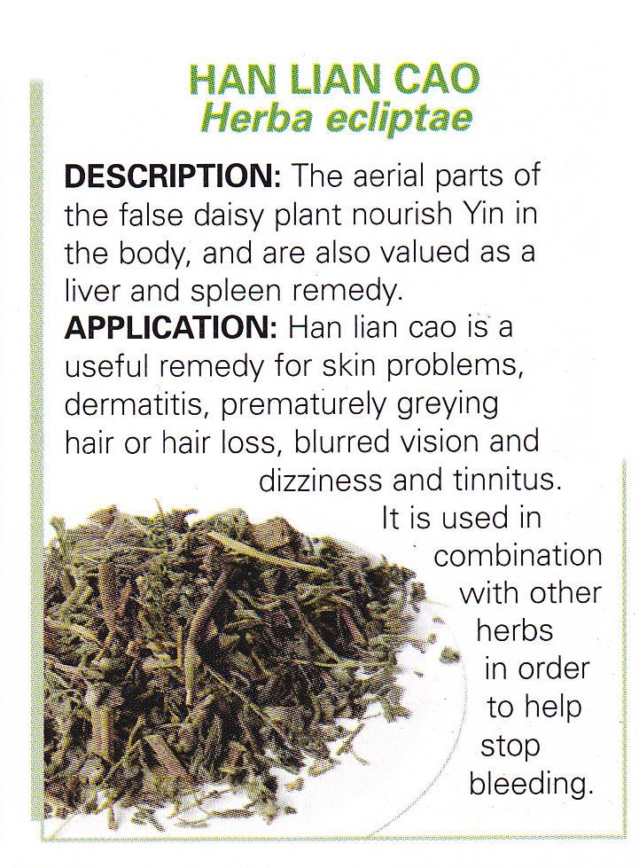 Chinese herb - HAN LIAN CAO - Herba ecliptae - aerial parts of the false daisy