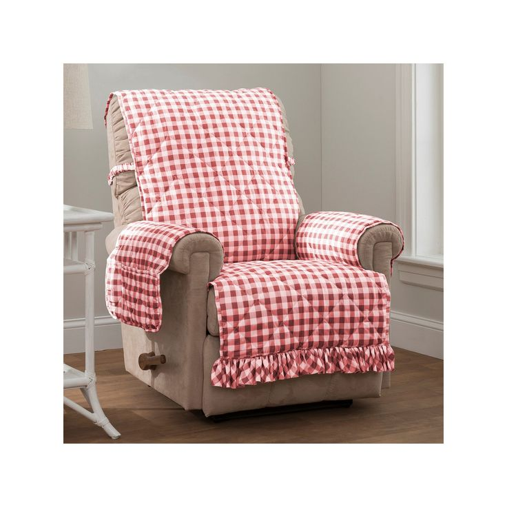 Innovative Textile Solutions Gingham Recliner Or Wing
