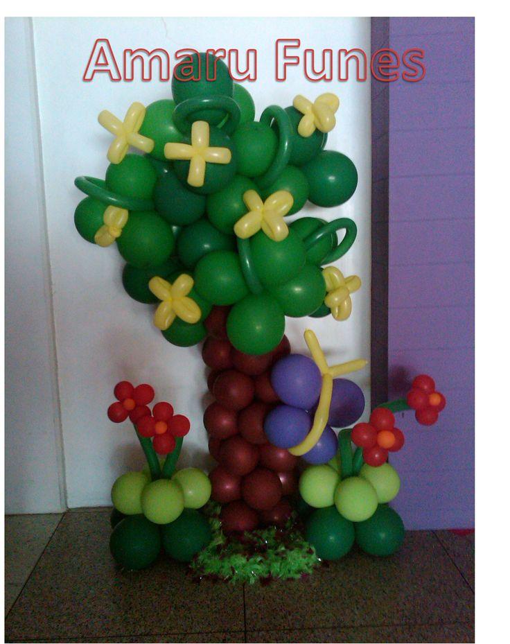 42 best mis decoraciones de fiesta infantil images on - Como hacer figuras con globos ...