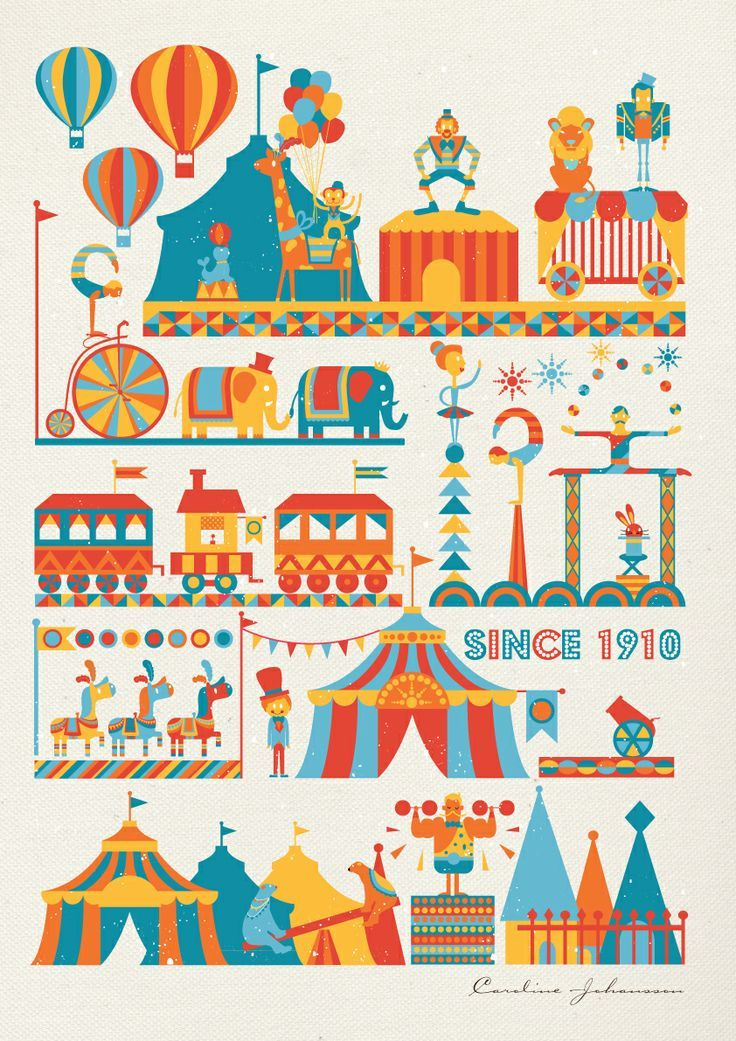 circus art projects for kids | Circus Print by Caroline: What kid wouldn't ... | Circus:Art Projects ...