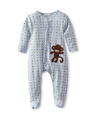 25% OFF Rumble Tumble Baby Long Sleeve Coverall (Medium blue)