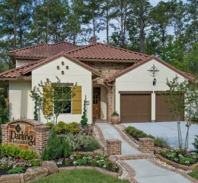 New Homes In The Woodlands TX Village Of Creekside Park Opens Patio Model