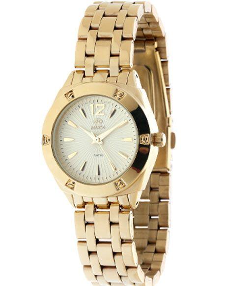 Reloj para mujer Marea con brazalete de acero dorado #reloj #mujer #marea #regalo #joyeria #online