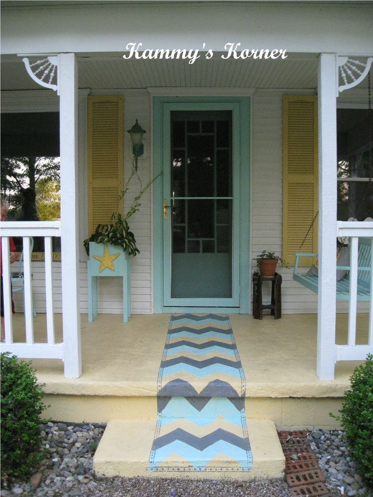 78 best images about painted rugs on concrete on pinterest for Porch floor paint ideas