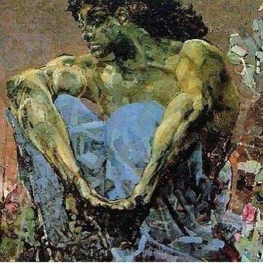 Михаил Врубель Демон сидящий 1890 г.