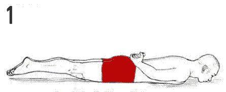 Exercice dos : position de départ allongée