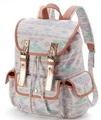 Candie's Metallic Aztec Backpack (Pink/Multi)