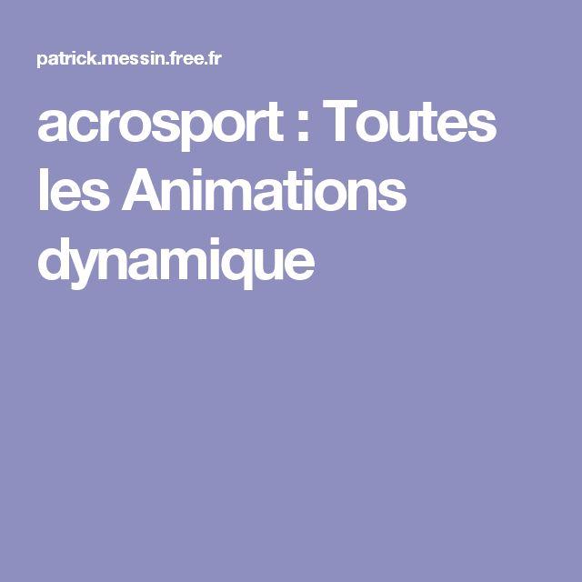 acrosport : Toutes les Animations dynamique