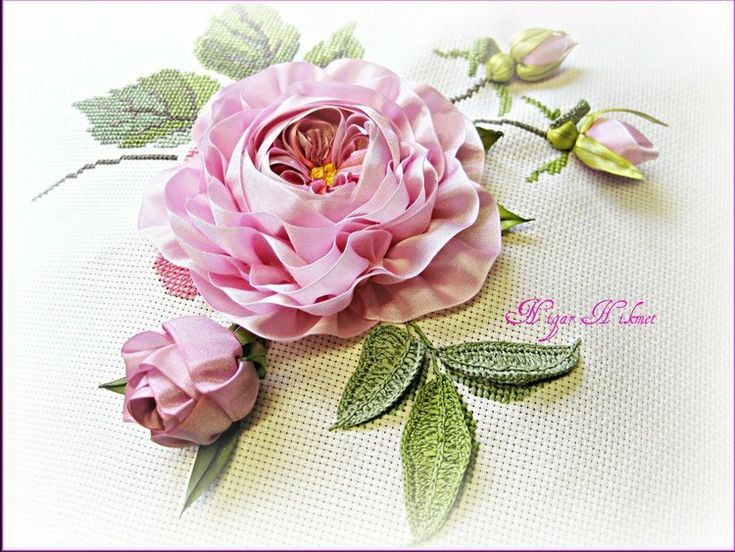 Images about embroidery ribbon flower on pinterest