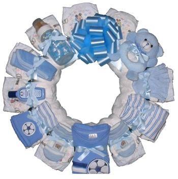 diaper wreath :)