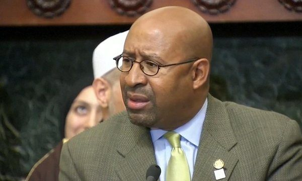 Philadelphia mayor Michael Nutter called Donald Trump an 'asshole' on Tuesday, after the Republican presidential frontrunner's proposal to ban Muslims from entering the US
