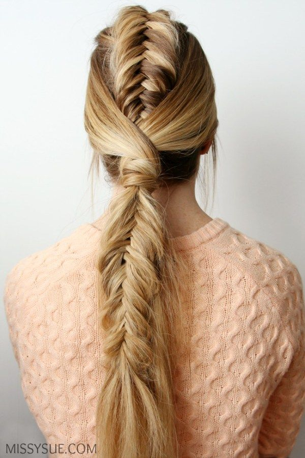 Fishtail Mohawk Ponytail | Mohawk ponytail, Loose hairstyles, Hair styles
