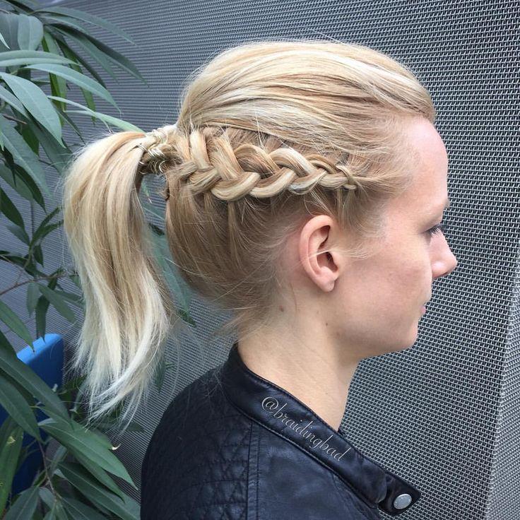 Dutchbraided #ponytail  . . #hollantilainenletti #braidideas #lettikampaus #trenzas #hairdo #peinados #plaitedhair #suomiletit…