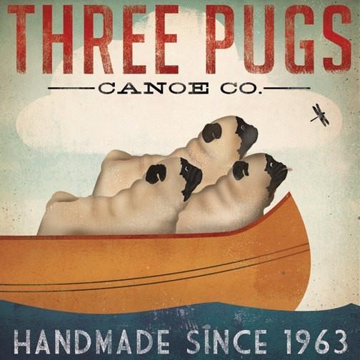 Three Pugs