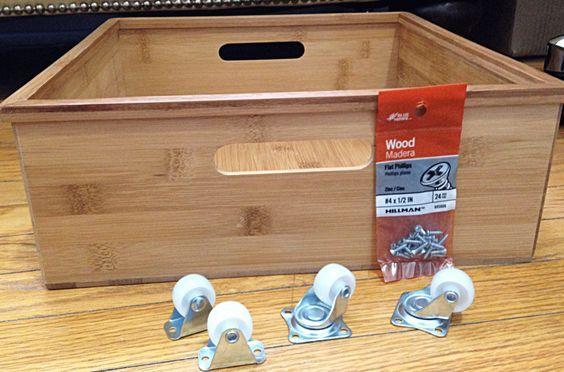 making underbed storage drawers   Under bed storage: DIY under bed drawer