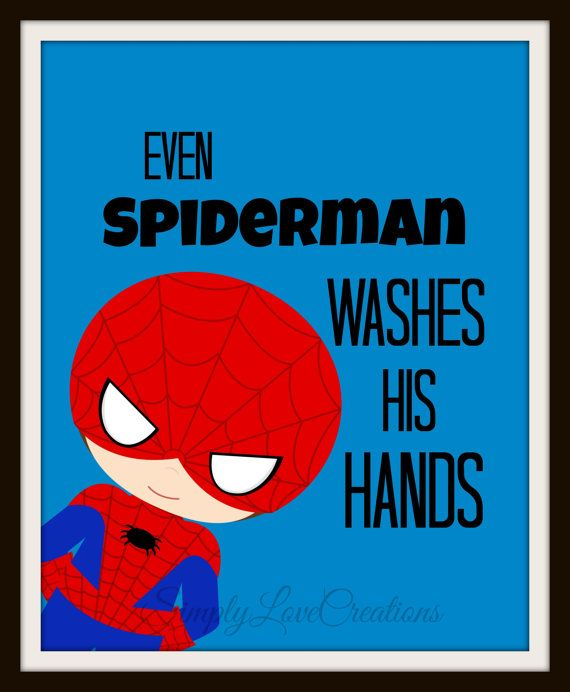 182 best images about party spiderman decorations on for Spiderman bathroom ideas