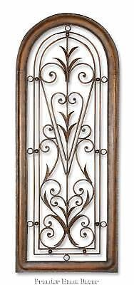 "50"" HUGE LARGE TUSCAN DECOR SCROLL WROUGHT IRON METAL WALL GRILLE GRILL WALL ART"
