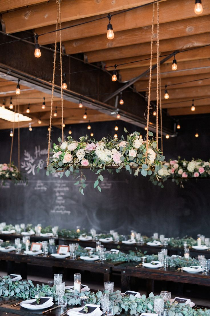 Suspended florals for weddings suspended floral arrangements - Black And Green Bohemian Wedding Reception Find This Pin And More On Hanging Flower
