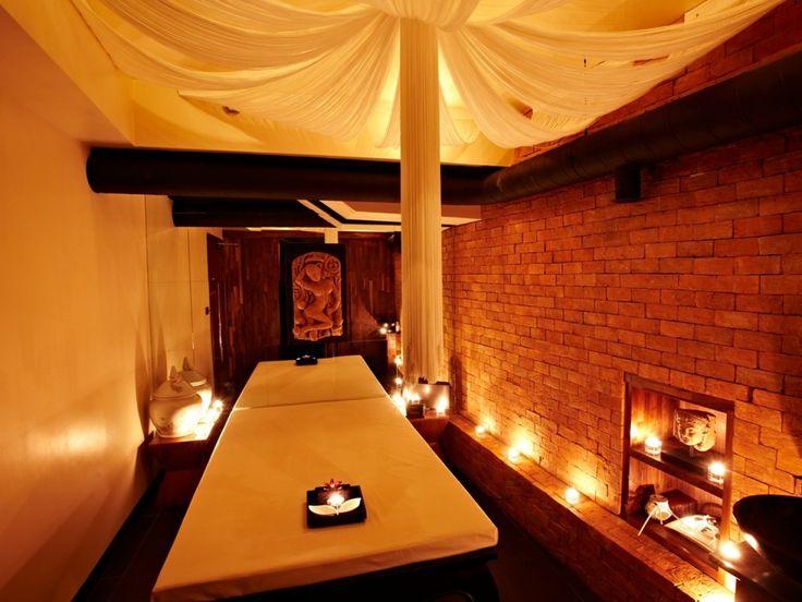 therapy room decor ideas waterfall massage room decor art