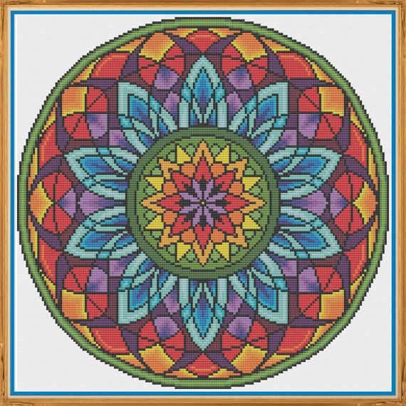 Mandala 3 Window Counted Cross Stitch by HornswoggleStore