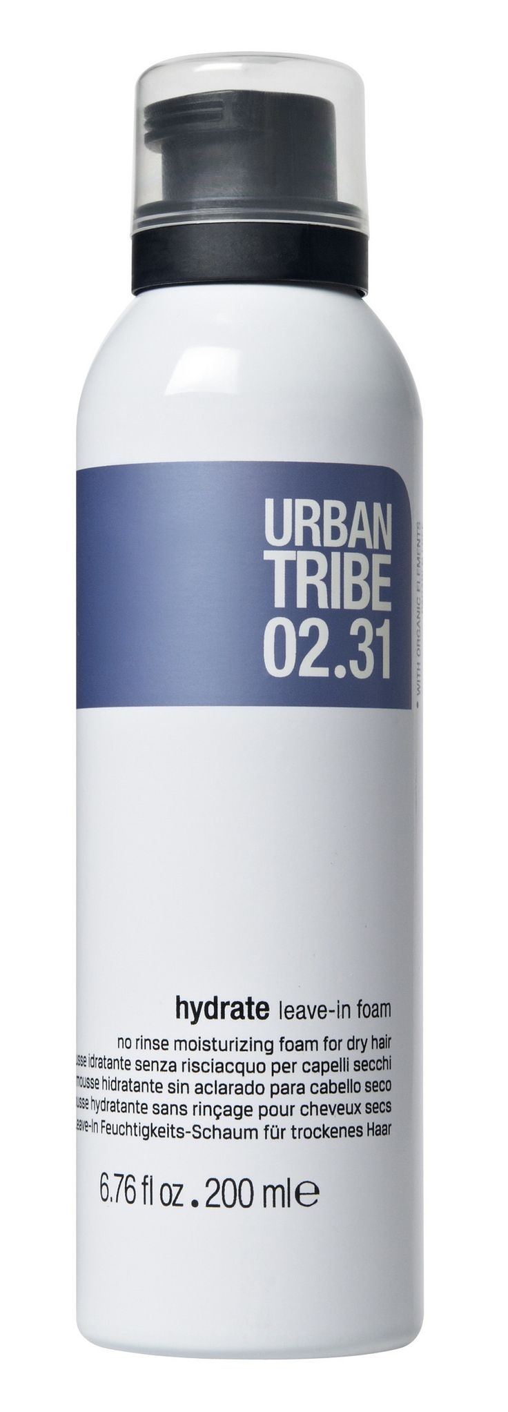 02.31 hydrate leave-in foam: the new moisturizing foam for dry hair by Urban Tribe haircare!