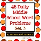 Start a problem of the day program for the new year with your middle school math students!! Sets 1 - 3 are now available with 135 word problems in all! $3