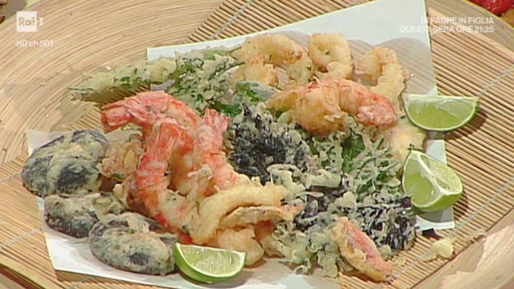"""La ricetta della gran tempura di primavera di Hiro Shoda del 26 aprile 2017, a """"La prova del cuoco""""."""