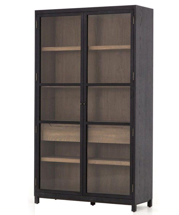 mason cabinet schwarz moderne vitrinen glasvitrine