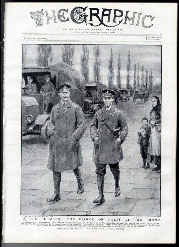 1916 THE GRAPHIC Newspaper WW1 Opatow Poland by SleekburnPrints