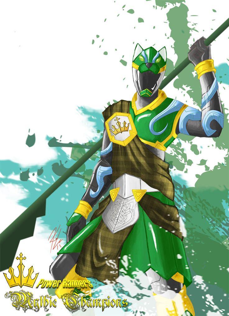 Power Rangers: Mythic Champions Green Hound by the-newKid.deviantart.com on @deviantART