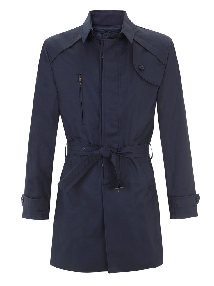 García Madrid. Raincoat. Navy blue.  #Fashion #Men #Raincoat
