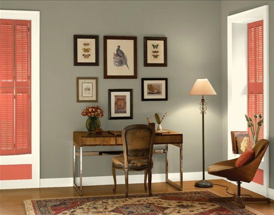 Copley Grey   Benjamin Moore (green Undertone Grey With Red Orange, Black,