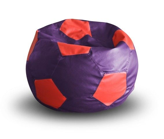 Football Bean Bag XXL Size Purple-Red With Fillers