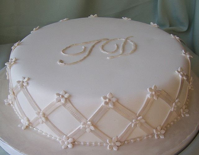 Monogram Wedding Cake by cakespace - Beth (Chantilly Cake Designs), via Flickr
