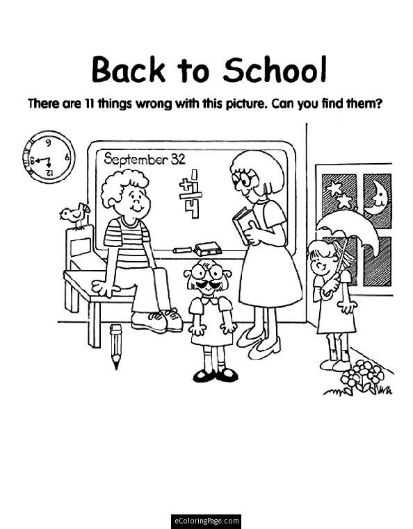 school kids coloring pages | Image result for what's wrong with this picture printables ...
