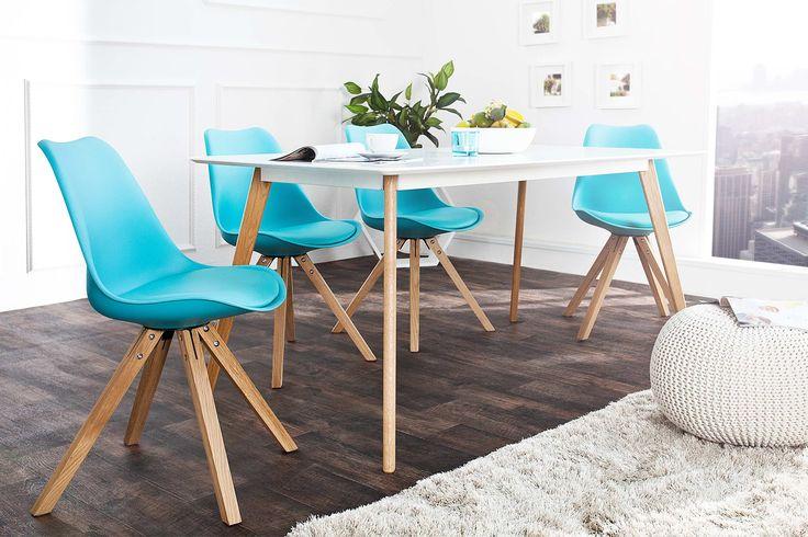 Jedálenské stoličky - moderné : Stolička Sweden NewLook tyrkysová