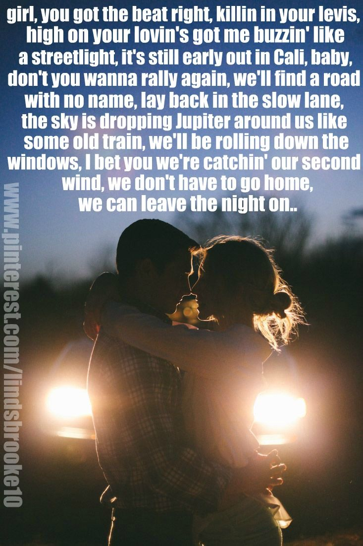 Night lights take my hand lyrics -  Leave The Night On Sam Hunt My Obsession Right Now