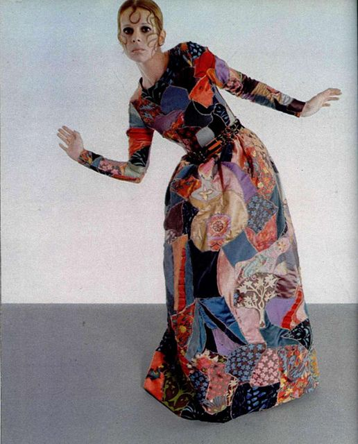 1969 - Yves Saint Laurent patchwork dress