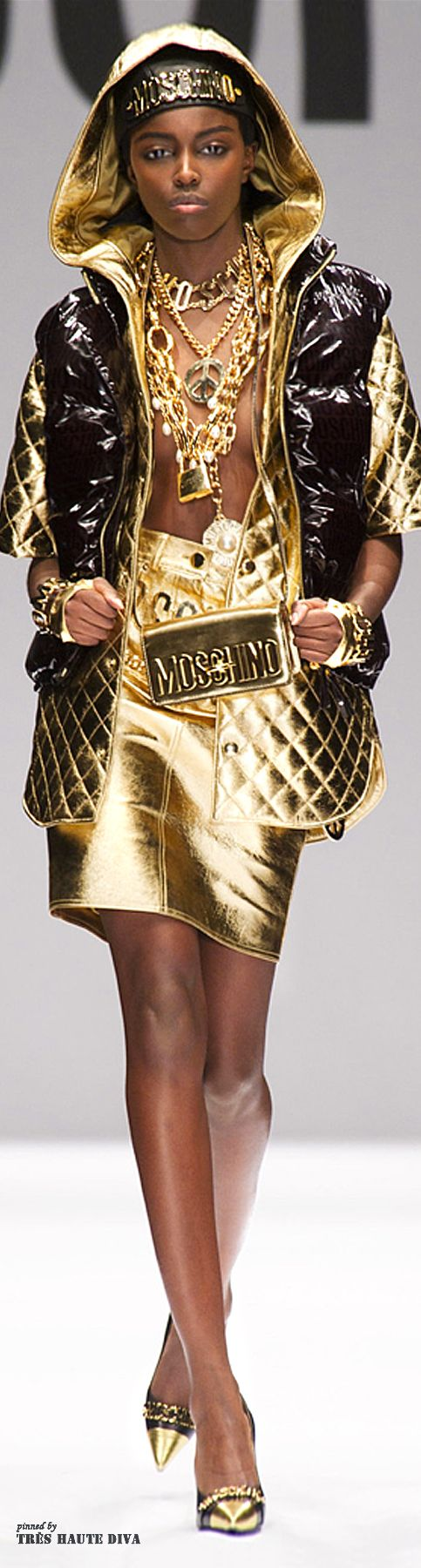 "#Milan Fashion Week Moschino Fall/Winter 2014 RTW  - not for everyone or all ages. But that person who can wear it, ""you know who you are""!"