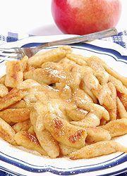 A nagy krumplihét: Almás nudli fahéjas vaníliaöntettel