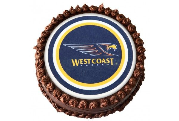 WEST COAST EAGLES EDIBLE IMAGE AVAILABLE AT WWW.MYDREAMCAKE.COM.AU