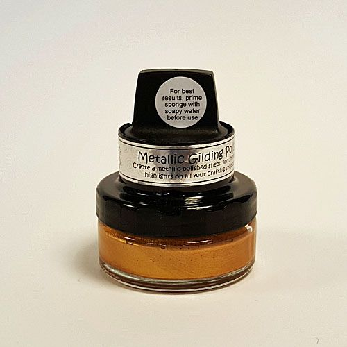 Cutting Edge Crafts, Craft Supplies, UK - **NEW** Cosmic Shimmer® Metallic Gilding Polish w/Applicator - Gold Treasure **NEW** Cosmic Shimmer® Metallic Gilding Polish w/Applicator - Gold Treasure