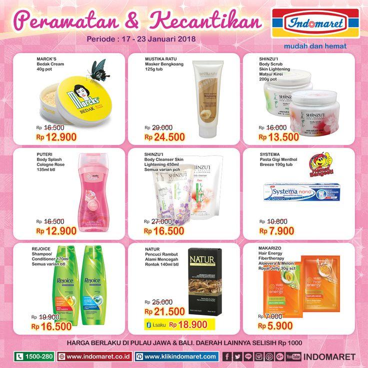 Promo #SuperHemat Perawatan & kecantikan  Periode : 17 - 23 Januari 2018 Info promo lebih lengkap : https://goo.gl/mJ6K4z