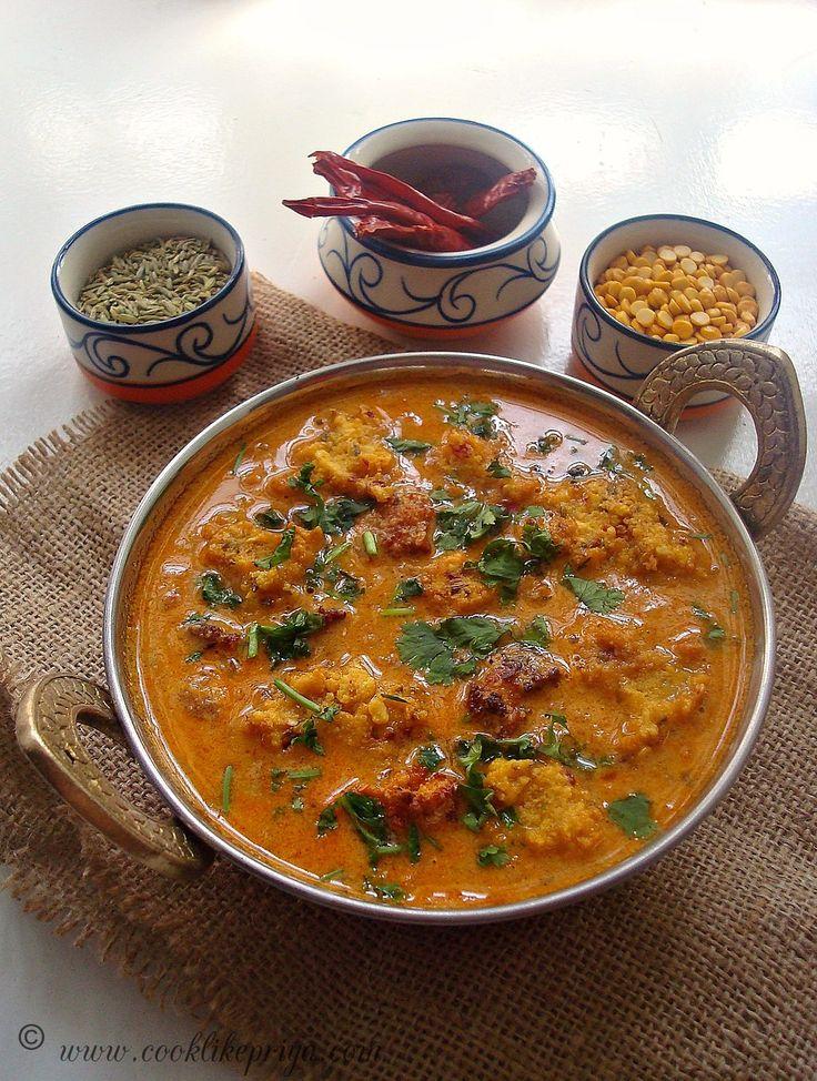 Cook like Priya: Chettinad Pakkoda Kuzhambu | Chettinad Lentil Curry | Pakoda Kuzhambhu Recipe