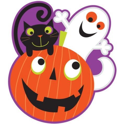 pumpkin patch cutout features a printed image of cute characters on glossy card stock pumpkin patch cutout makes a great party table decoration as well - Halloween Cutout Decorations